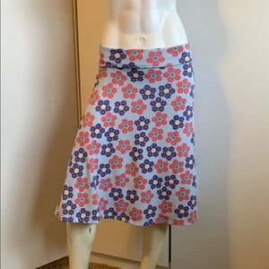 LulaRoe Simply Comfortable Knee Length Skirt Flora